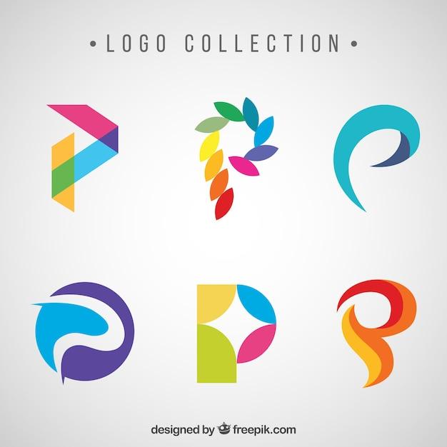 抽象的なカラフルな文字のロゴ