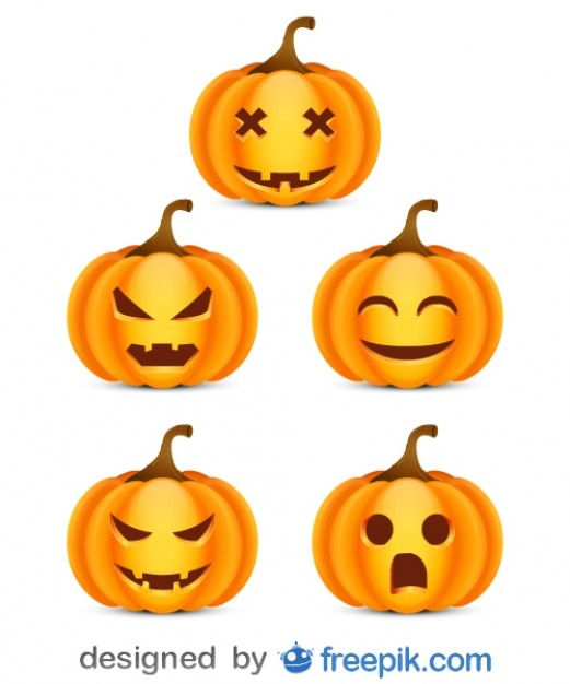 Pack About Halloween of Small Scare Pumpkins\ 1