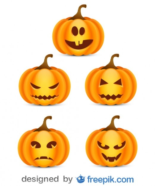 Pack About Halloween of Small Scare Pumpkins\ 3
