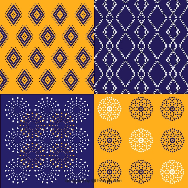 Pack Of Batik Geometric Patterns
