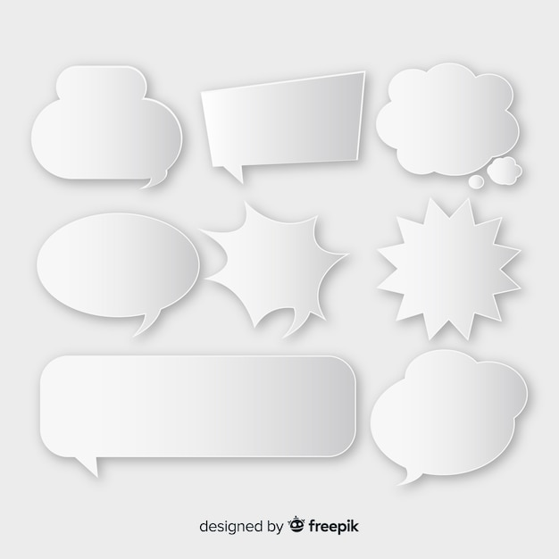 Pack of comic speech bubbles Free Vector