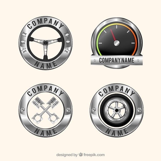 Pack Of Four Realistic Car Logos Vector Free Download