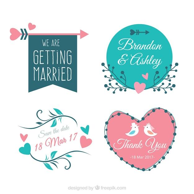 pack of four vintage bridal shower stickers vector free download rh freepik com Bridal Shower Envelope Logo bridalshower logo free