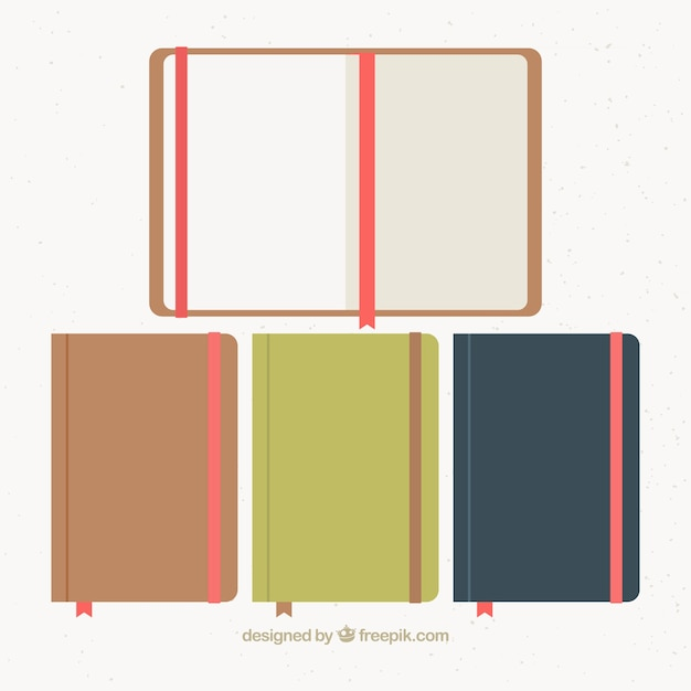 Pack of notebooks Free Vector