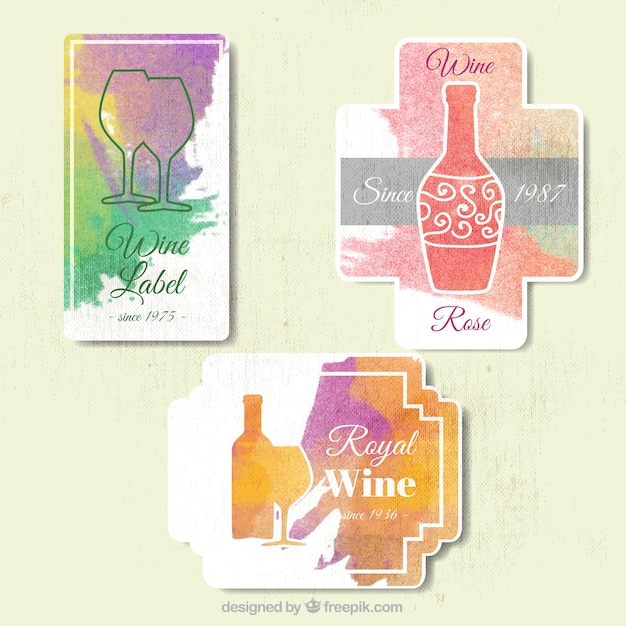 Pack of abstract wine labels