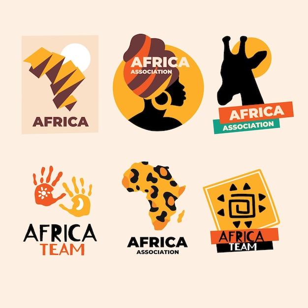 Пакет шаблонов африканских логотипов Бесплатные векторы