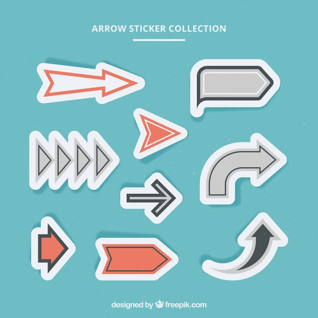 Pack of arrows stickers