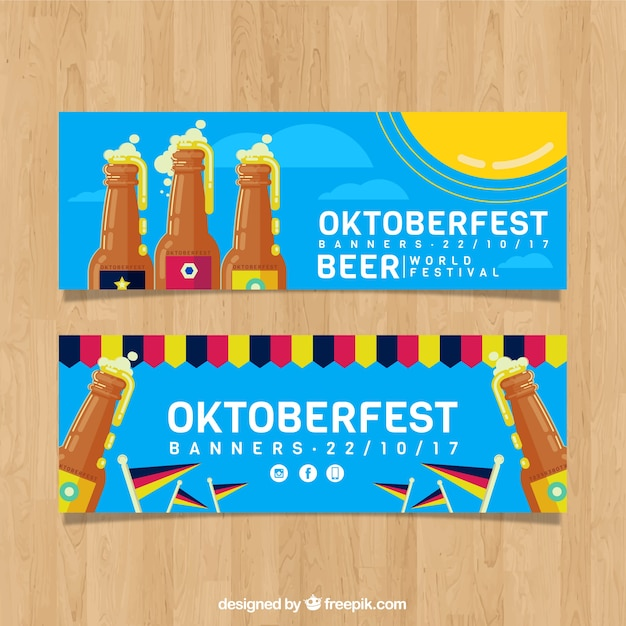 Pack of banners for german beer party