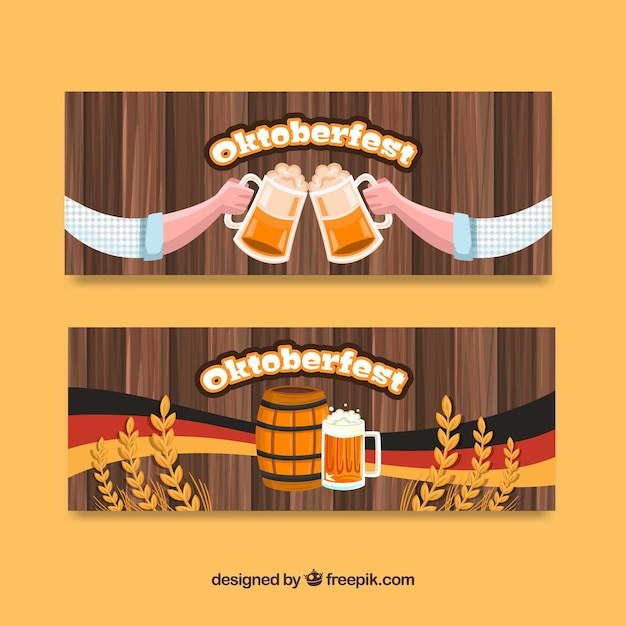 Pack of banners for oktoberfest celebration
