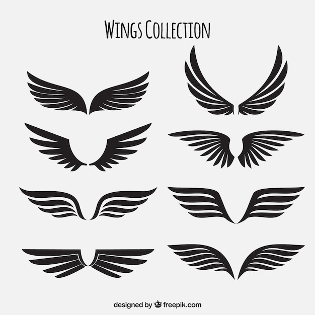 Vector wings shield and crown free vector download 2235