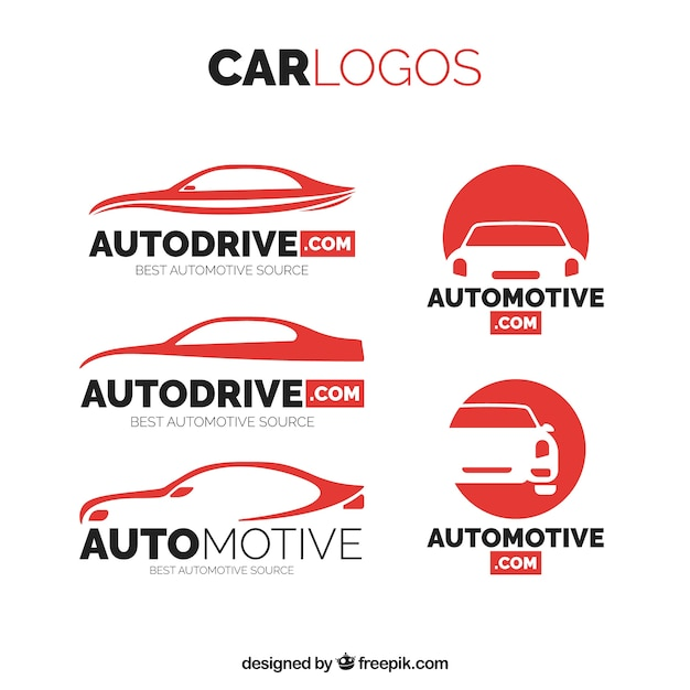Pack of car logos Free Vector