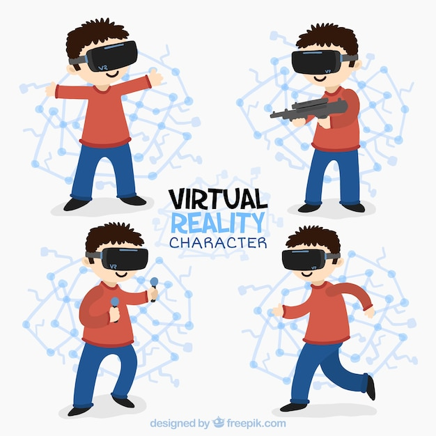 Pack of children in virtual worlds
