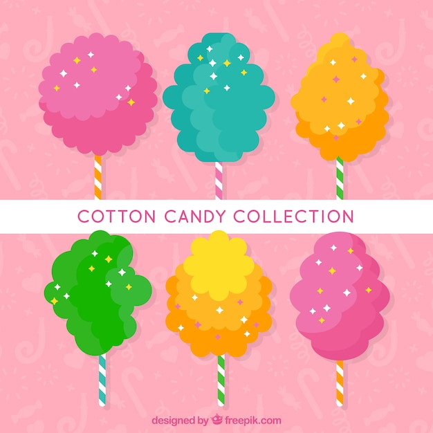 Pack of colored cotton candy