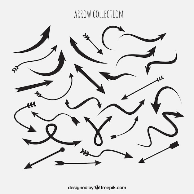 Pack of decorative arrows Free Vector