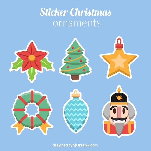Pack of decorative christmas stickers