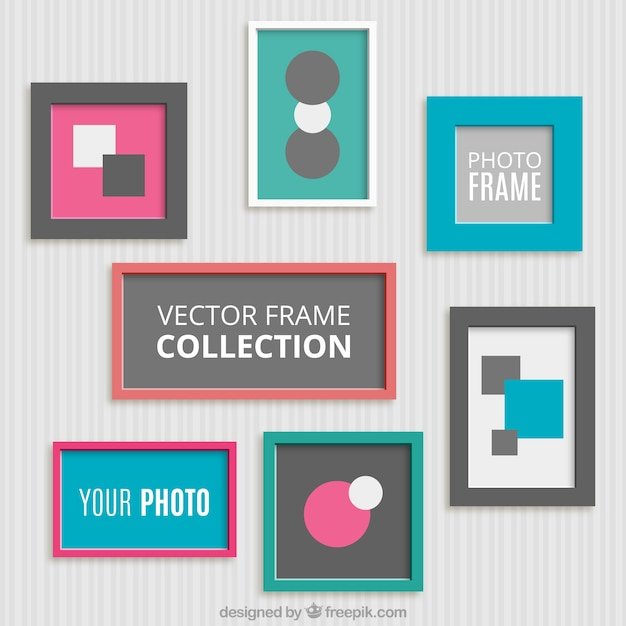 Pack of decorative flat frames Vector | Free Download