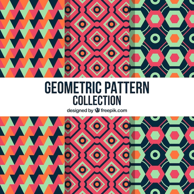Pack of decorative patterns of geometric shapes