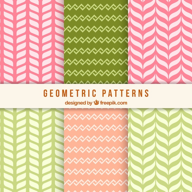Pack of decorative patterns with pretty geometric shapes