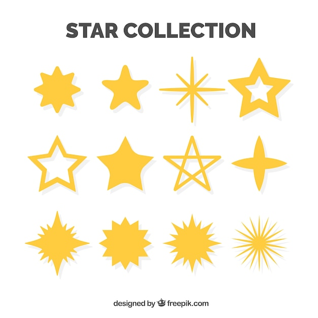 Pack of decorative stars Free Vector