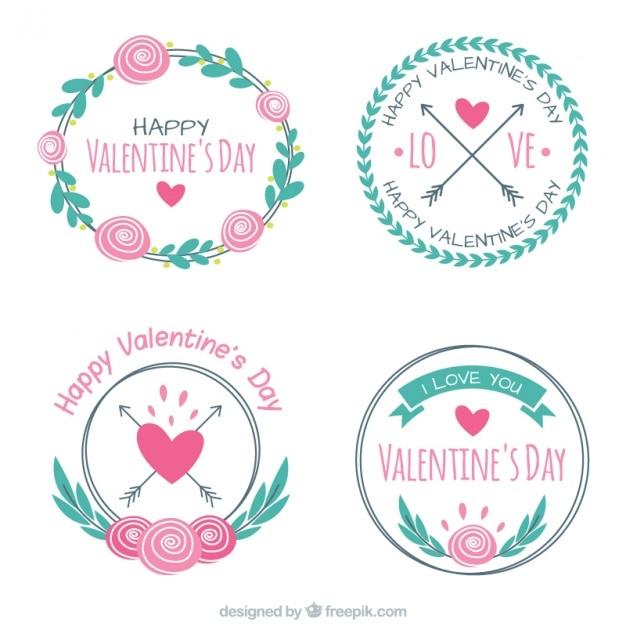 Pack of decorative valentine stickers