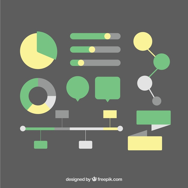 Pack of elements for computer graphics Free Vector