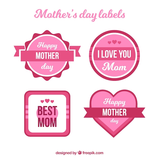 Pack of four mother\'s day stickers