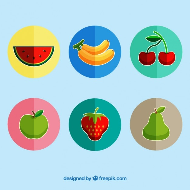 pack of fruits labels in flat design vector free download rh freepik com free vector labels template free vector labels stickers