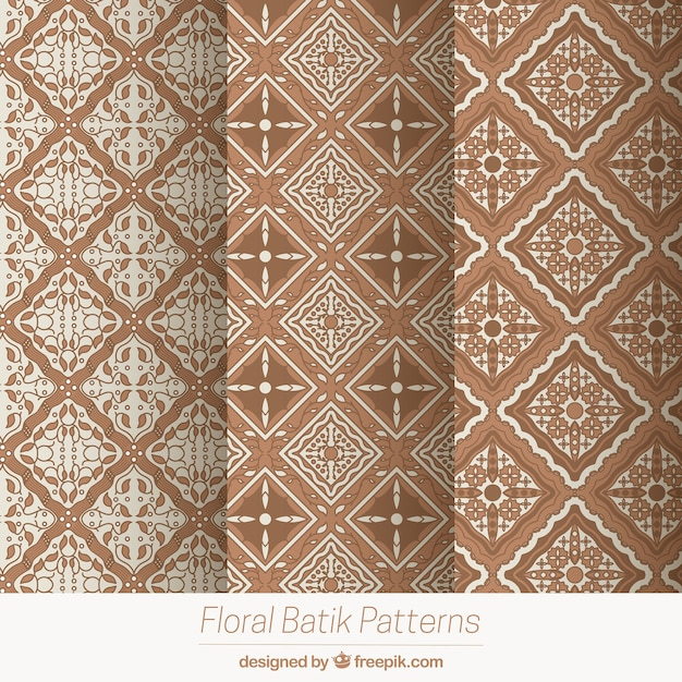 Pack Of Geometric Patterns In Batik Style Vector