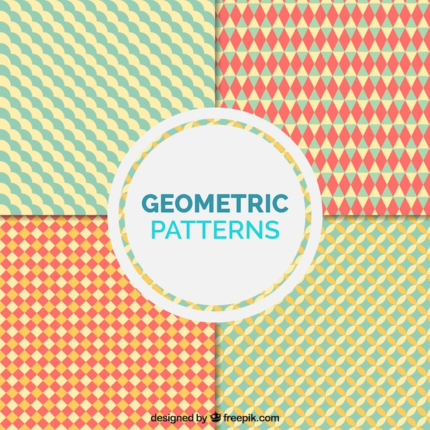 Pack of geometric vintage patterns