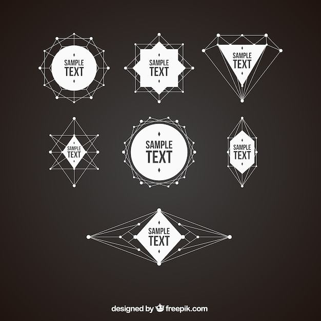 Пакет геометрических форм значков Бесплатные векторы