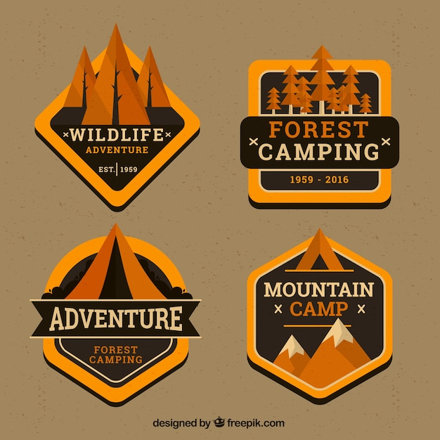 Pack of golden adventure vintage\ stickers