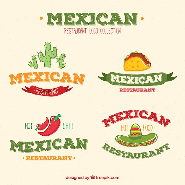 Pack of mexican restaurant logos