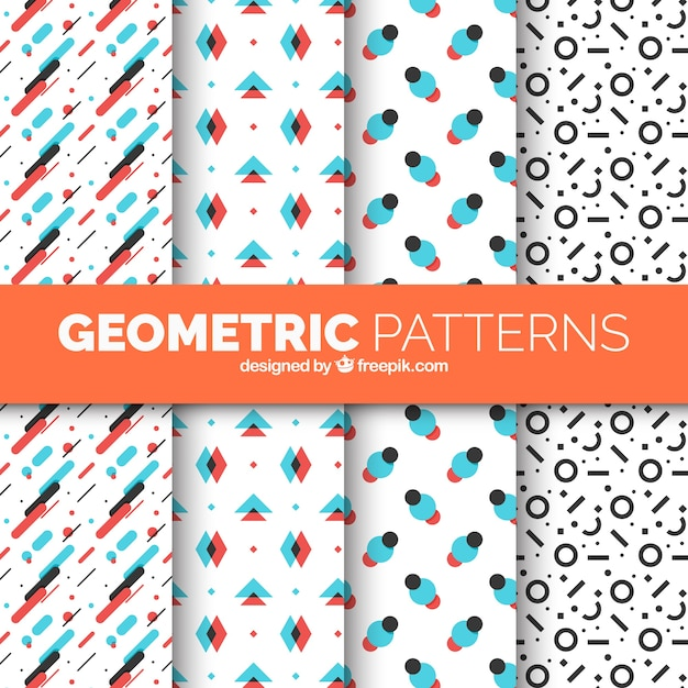 Pack of modern geometric patterns