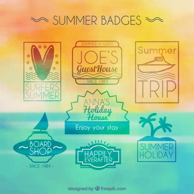 Pack of modern summer badges