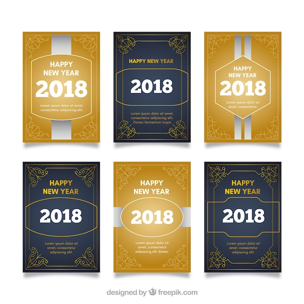 Pack of new year party cards