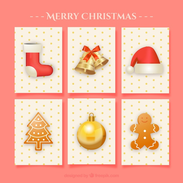 Pack of nice christmas cards