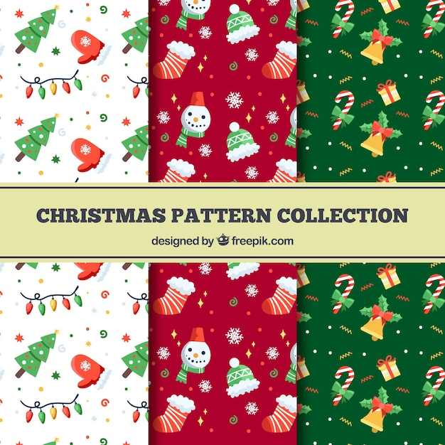 Pack of nice christmas patterns