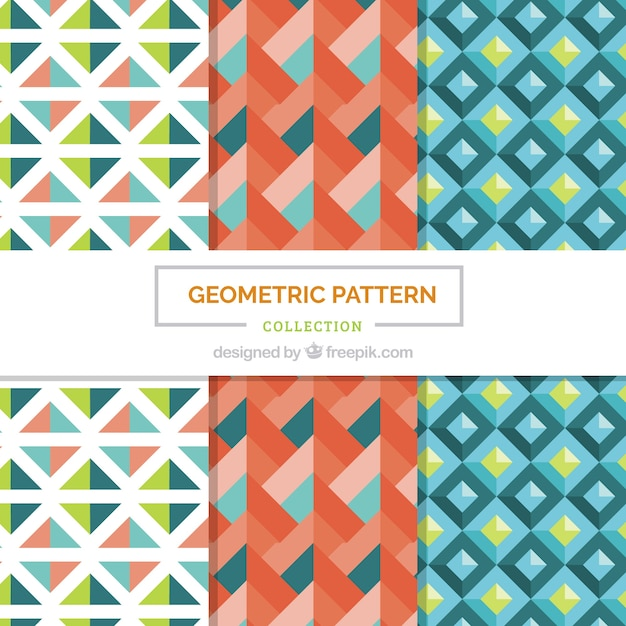 Pack of nice geometric decorative patterns