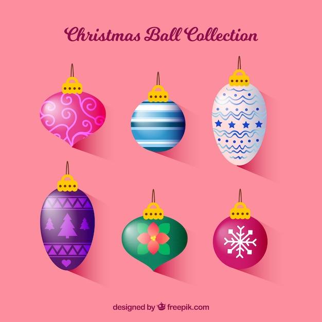 Pack of nice retro christmas balls