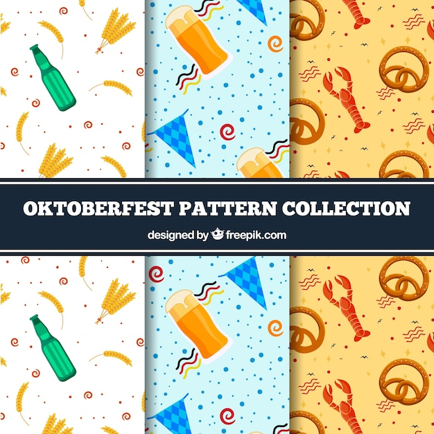 Pack of oktoberfest decorative patterns