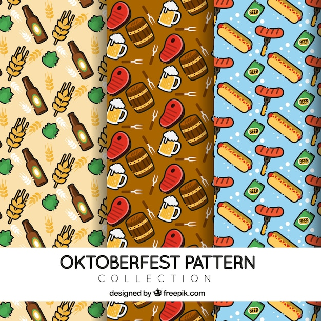 Pack of patterns with traditional german products