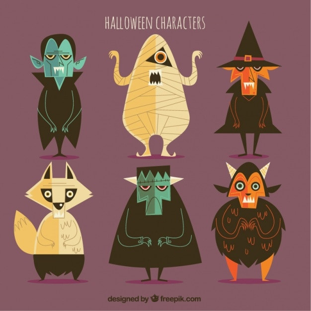 Halloween Character Design Challenge : Quirky vectors photos and psd files free download