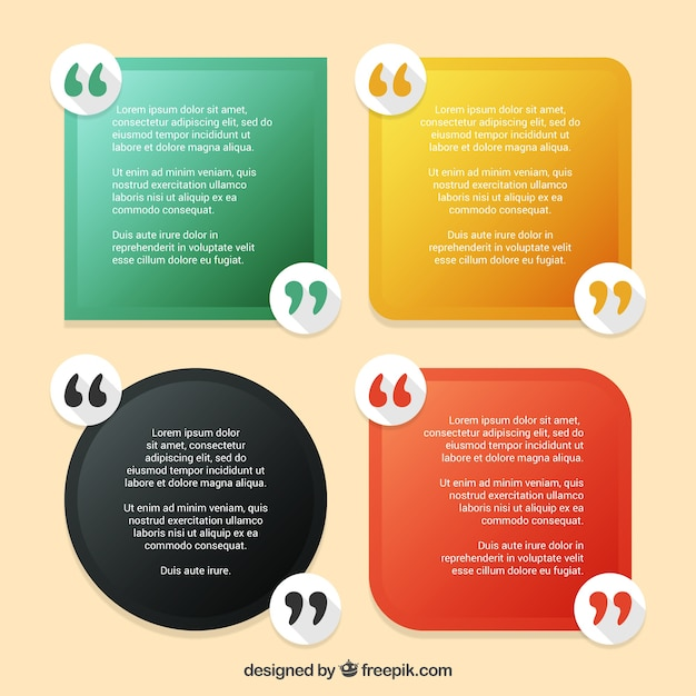 pack of quotes template vector free download