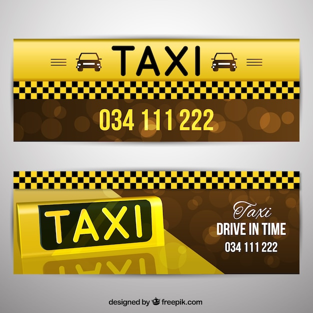 Pack of taxi banners