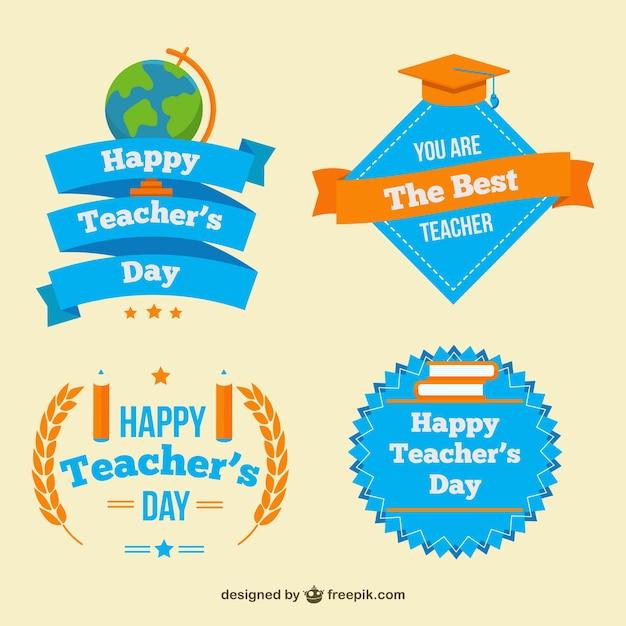 Pack of teacher\'s day pretty badges