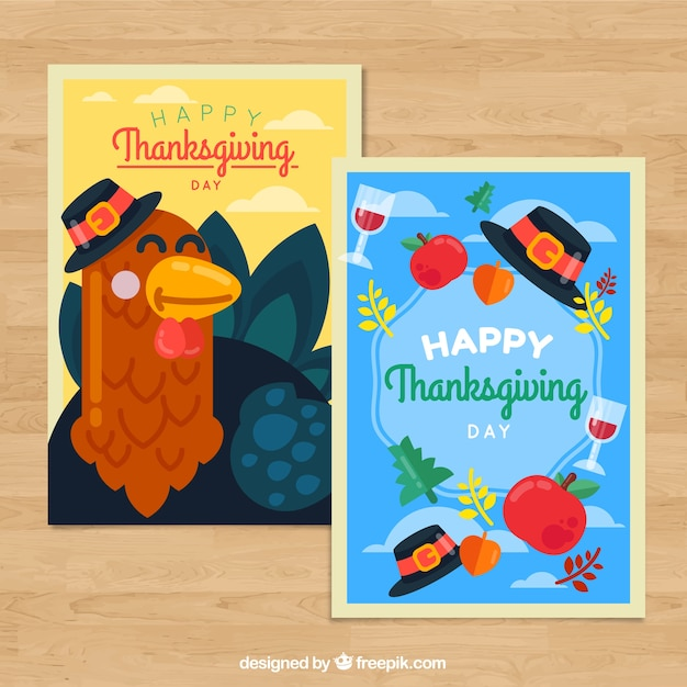 Pack of thanksgiving greeting cards