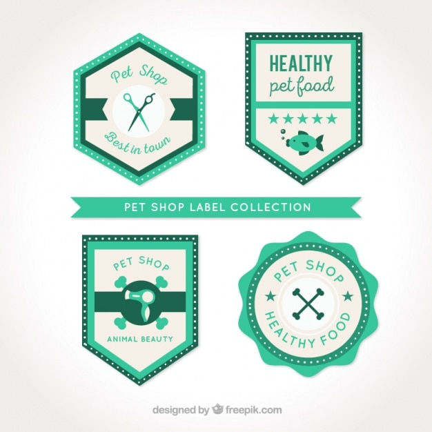 Pack of veterinary vintage flat stickers