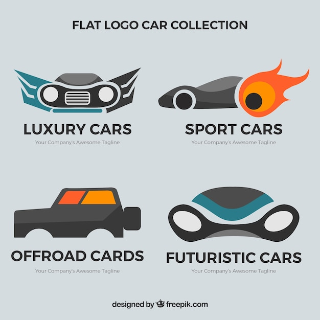 Vintage car logo vector