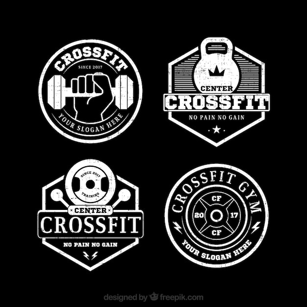 Pack of vintage crossfit stickers