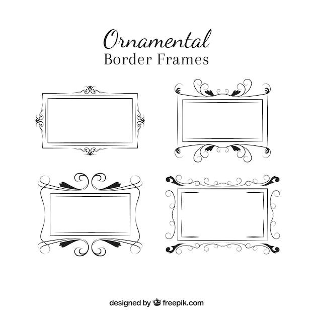 Pack of vintage decorative frames